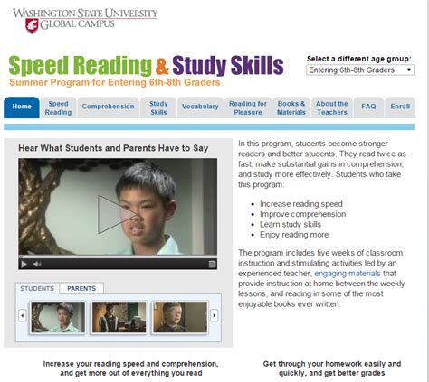 Speed Read Feed For March 20 2007 by Wsu Summer Reading Skills Program High School