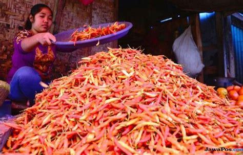 produksi melimpah harga cabai bawang stabil