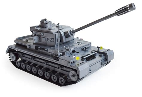 aiboully century german armored tank cannon mini building blocks toys type f2 model
