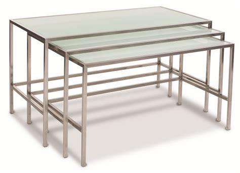 tavoli da buffet steel style tavoli da buffet impilabili con piano in vetro