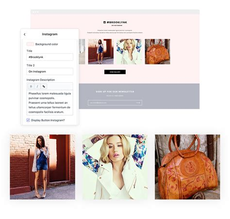 Brooklynk Responsive Fashion Shopify Template Sections Ready Halothemes Com Shopify Gallery Page Template