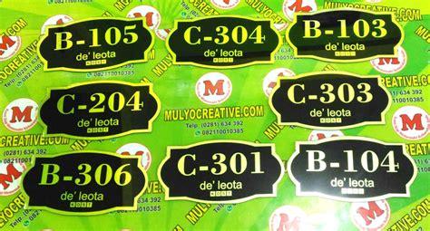 Bordir Papan Nama jual papan nama ruang papan nomor rumah pesan name tag