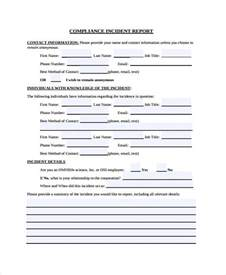 compliance form template 12 compliance report templates free premium templates