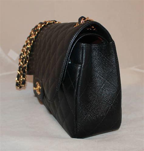 Tisdale And Chanel Jumbo Flap Handbag by Chanel Black Caviar Jumbo Flap Handbag Circa 2014