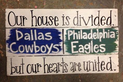 Philadelphia Eagles Home Decor House Divided Sign Diy Pallet Pieces Dallas Cowboys And Philadelphia Eagles Home