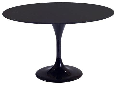 36 quot molded black fiberglass table contemporary