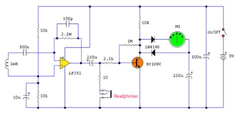 probe circuit diagram gt circuits gt electromagnetic field probe with meter l45337