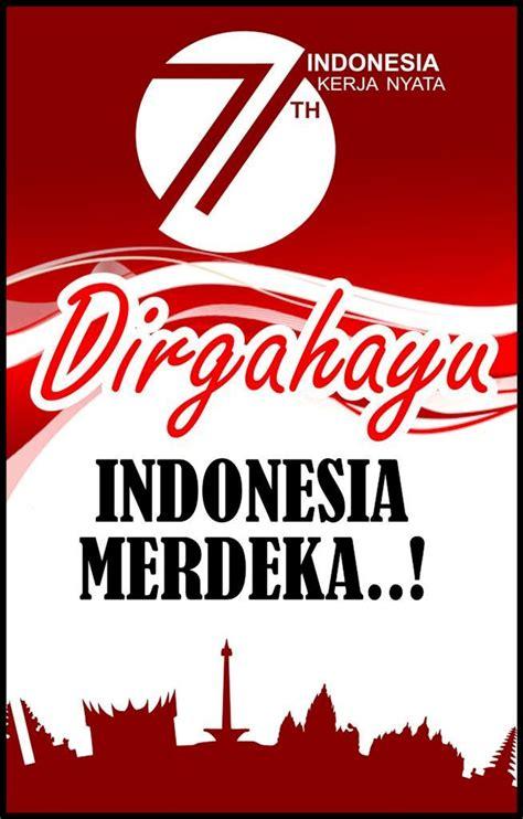 design kemerdekaan indonesia poster dirgahayu 17 agustus 71 tahun 2016 kemerdekaan