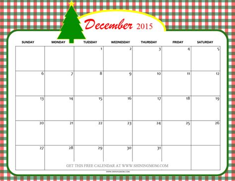 free printable holiday planner 2015 print out calender 2015 december christmas calendar