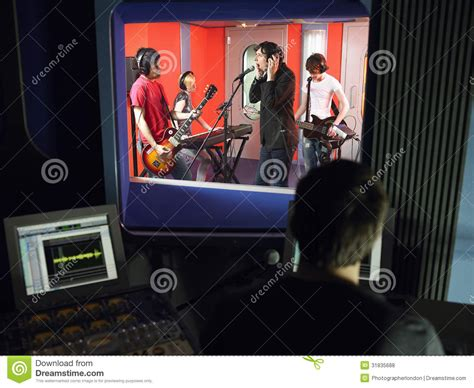 Studio Technician by Band In Recording Studio Royalty Free Stock Photos Image 31835688