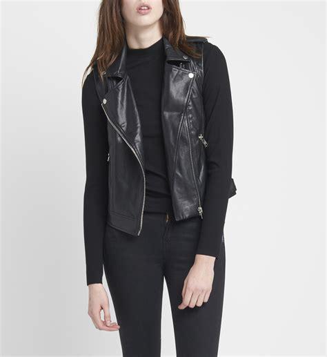 Faux Leather Vest alex faux leather vest silver