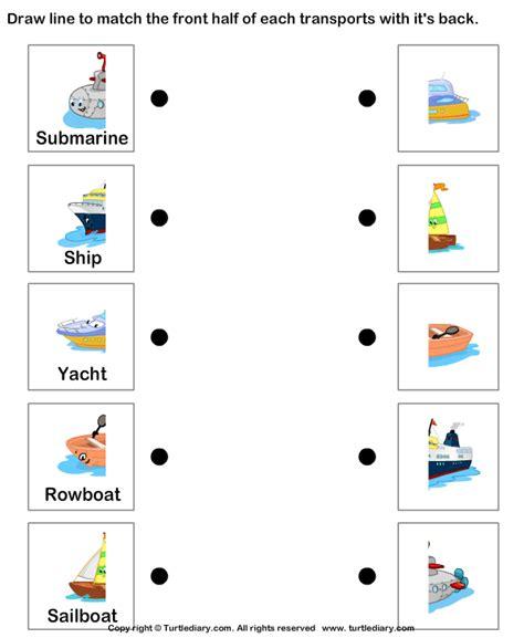 Water Worksheet by Water Transportation Worksheet Turtle Diary