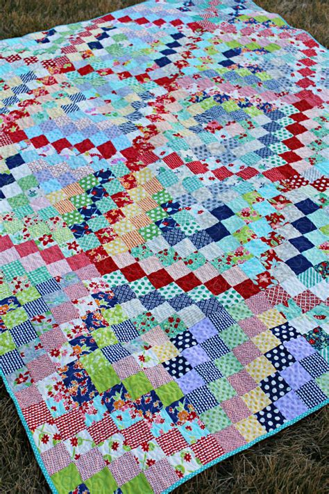 Trip Quilt Pattern by Scrappy Trip Along Quilt Pattern The Stitching Scientist