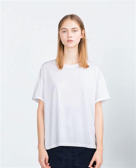 Zara White Shirt by Zara Basic T Shirt In White Lyst