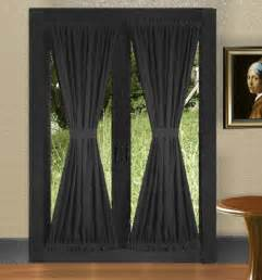 Door Blackout Curtains Black Door Curtains