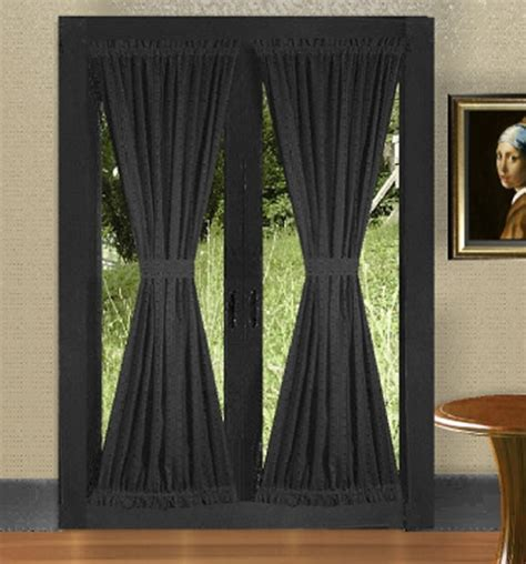 door blackout curtains black french door curtains