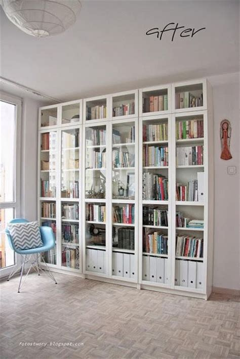Library Living Room Home Decor Ikea Billy Eames Chair Library Style Bookshelves