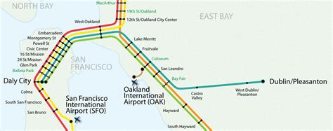 san francisco map with bart app map bart gov