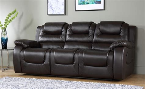 Leather Sofas Vancouver Vancouver 3 Seater Recliner Sofa Brown Only 163 599 99 Furniture Choice