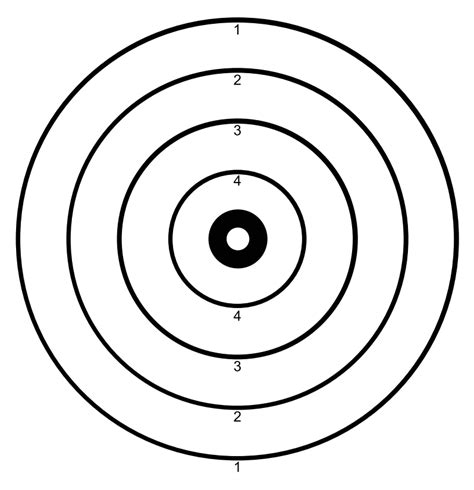 Target Templates Printable Pictures To Pin On Pinterest Pinsdaddy Shooting Target Template