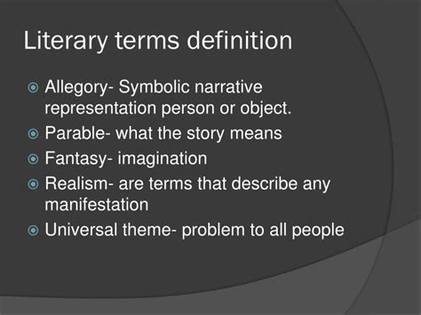 theme literary term definition ppt how much land does a man need powerpoint