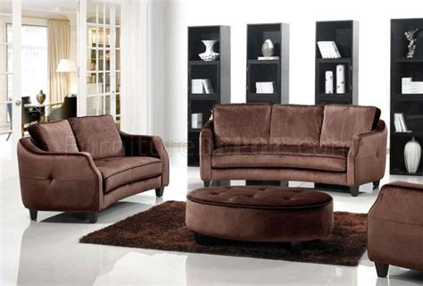 fabric chair and ottoman sets brown fabric modern 3pc sofa loveseat chair set w ottoman