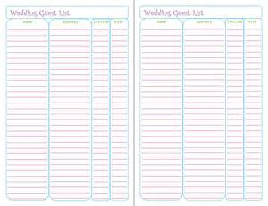 free printable guest list template free printable wedding guest list tracker peanut and