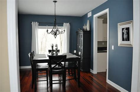 smoky blue sherwin williams paint color dining room