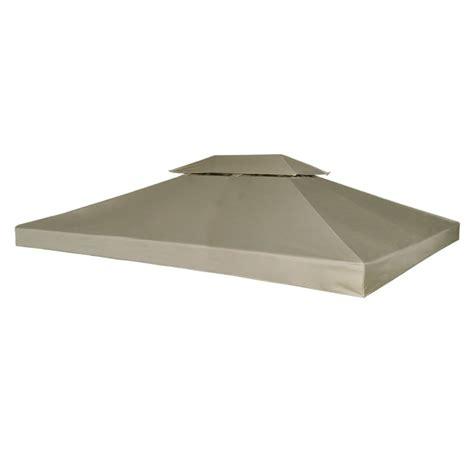 waterproof gazebo cover canopy beige 10 x 13 vidaxl