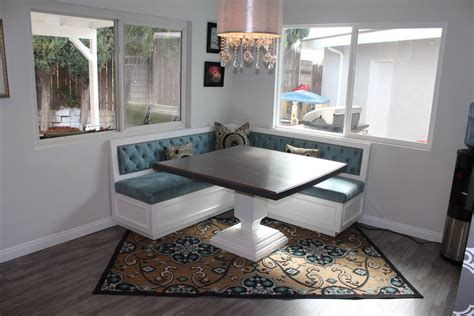 booth dining table dining room modern with banquette