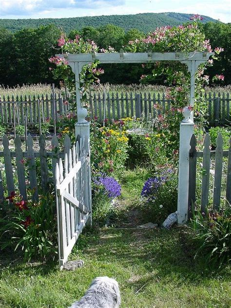 country house arbor  vegetable garden