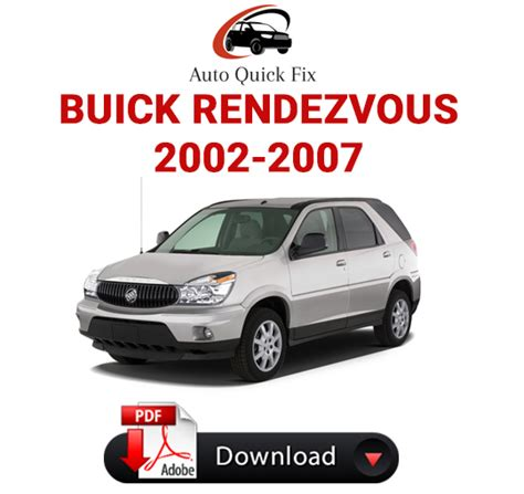 free car manuals to download 2002 buick rendezvous on board diagnostic system buick rendezvous pdf service repair manual 2002 2007 pdf factory repair manuals