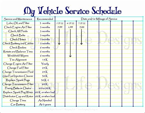 8 best images of printable mileage sheet template free