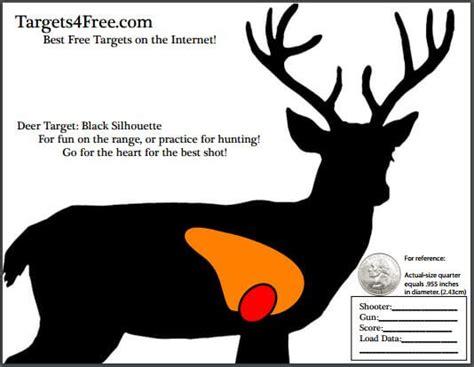 printable deer shooting targets deer target with vitals by targets 4 free targets4free