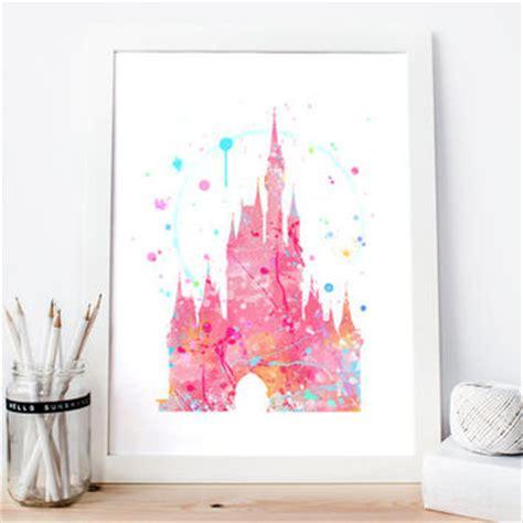 free printable princess wall art disney cinderella s castle pink from aquartis