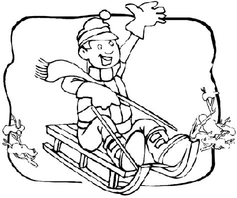 coloring pages of sledding sledding coloring page purple