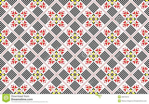 pattern cdr romanian traditional seamless pattern cdr format stock