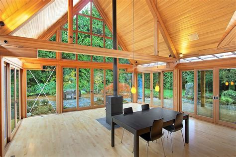Floor Plans Small Cabins by Cabin Chic Mountain Home Of Glass And Wood Modern House