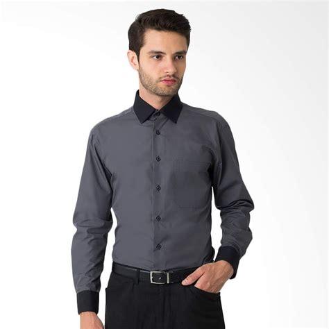 Kemeja Cowok Alisan jual alisan polos kombinasi panjang grey kemeja pria harga kualitas terjamin blibli