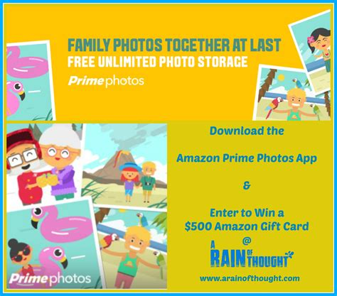 Amazon Gift Card Prime Now - amazon prime photos rolls out new features 500 amazon gift card giveaway a rain
