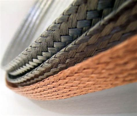 flat copper braid plain and tinned 35 mm2 25 mm wide x
