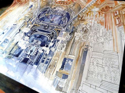 colorful new architectural watercolors by maja wronska colossal