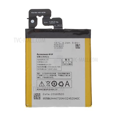 Lenovo Battery Lenovo Bl220 S850 buy oem bl220 2150mah li polymer battery replacement