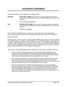 Personal Guarantee Template Uk by Guarantee Assignement And Postponement Of Claim Template