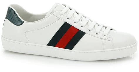 gucci white sneakers gucci croc detail leather sneakers in white for white