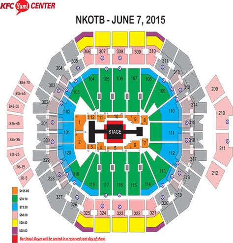 layout of kfc yum center louisville kfc yum center seating chart brokeasshome com