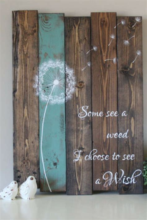 inspirational home decor some see a weed dandelion wall art rustic home decor