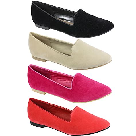 womens smart flat shoes womens flat dandy smart office loafers pumps suede