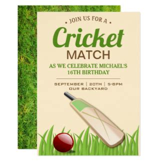 cricket birthday card template cricket invitations announcements zazzle