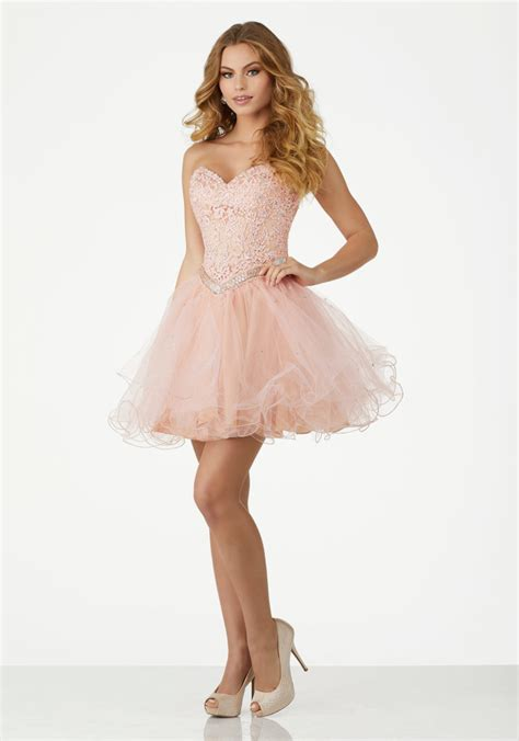 dress with beading tulle homecoming dress featuring a sweetheart strapless